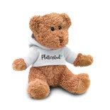 Teddy met hoodie wit