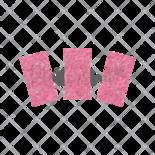 Sleutelhanger / Label Vilt Recht Klein Diverse Kleuren