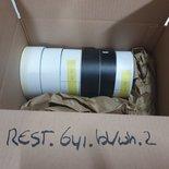 Restant rollen Oracal 641 mat zwart/wit 6st.