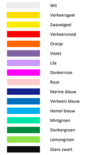 Fun & Kentekenplaat met rand 52x11cm Basis Kleuren