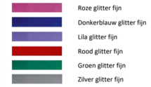 Fun & Kentekenplaat met rand 52x11cm Glitter Kleuren