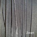 Paspelband Elastisch Zwart