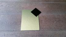 Naambord goud look - zwart ruitje