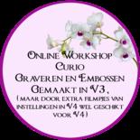 Online workshop Curio graveren en embossen