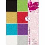 A4 Glittered Paper Pack