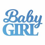 CC Baby Girl Sentiment Mini Die