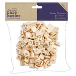 Papermania Bare Basics Wooden Tile Letters