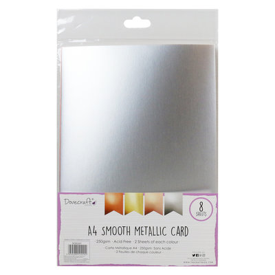 Metallic Smooth A4 Card Pack