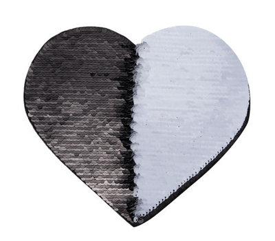 Sublimatie sequins patch hart