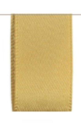 Satijn Lint Double Face 25mm Gold