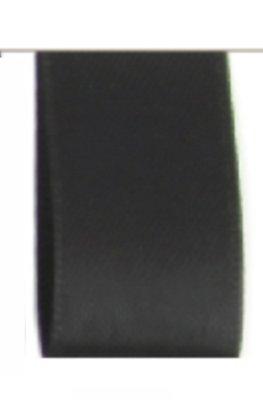 Satijn Lint Double Face 25mm Black