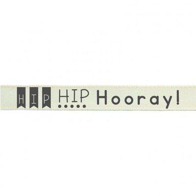Lint 15mm x 2mtr Hip Hip Hooray!