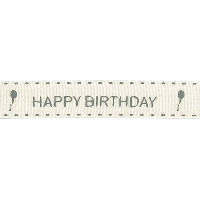 Lint 15mm x 25mtr Happy Birthday