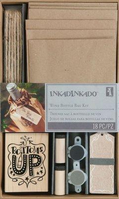 Inkadinkado DIY kit wine bottle bag
