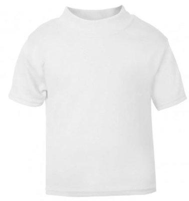 Baby & Kinder T-Shirt Wit 0-3mnd