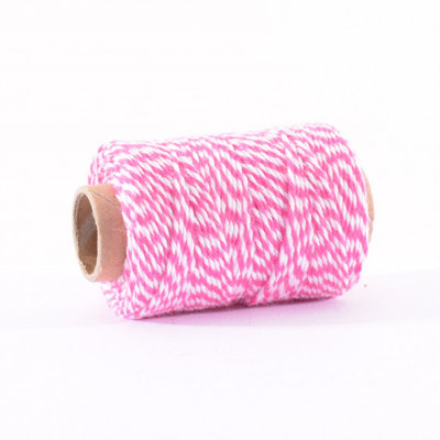 Bakers Twine pink-wit