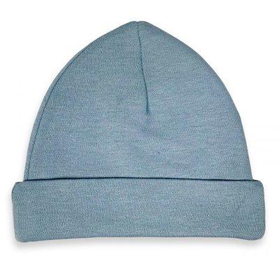 Baby Beanie/Mutsje Grey/Blue mt. 50-56