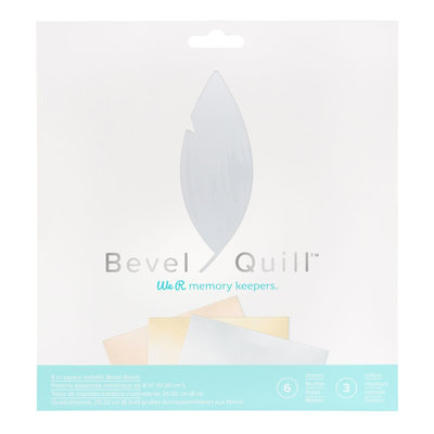 We R Memory Keepers Bevel Quill Board Sheets Metallic