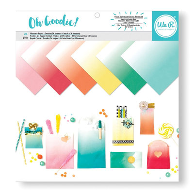 We R Memory Keepers  Oh Goodie! Ombre Glassin Paper Pack