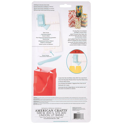We R Memory Keepers Gift Bag Punch Board