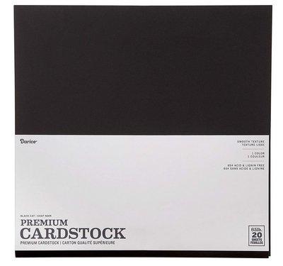 Darice Core´Dinations Smooth Premium Cardstock Black Cat 30,5 x 30,5cm