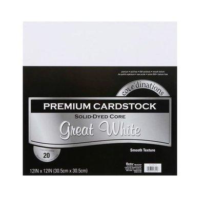 Darice Core´Dinations Smooth Premium Cardstock White 30,5 x 30,5cm