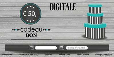 Digitale Cadeaubon t.w.v. € 50,-