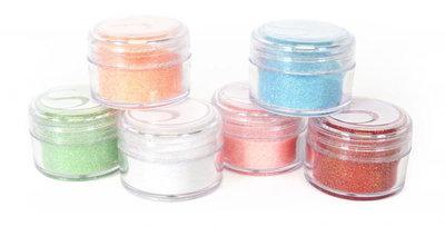 Silhouette glitter pastel colors