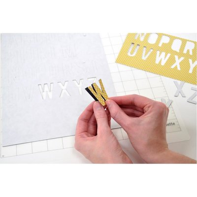 Silhouette magnet paper adhesive