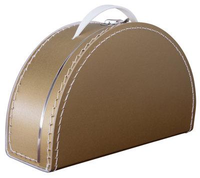 28cm koffertje half rond goud