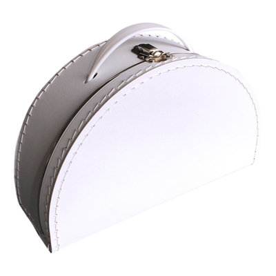 28cm koffertje half rond wit