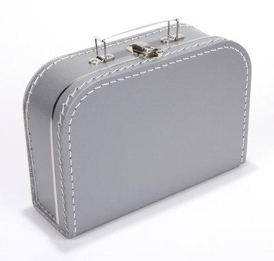 30cm koffertje zilver