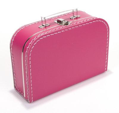 30cm koffertje fuchsia