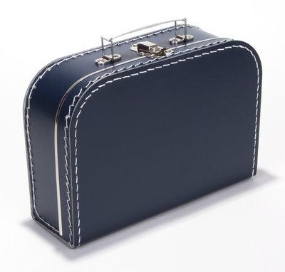 25cm koffertje donker blauw