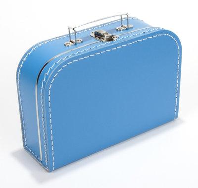25cm koffertje aqua blauw