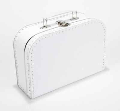 20cm koffertje wit
