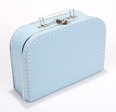 20cm koffertje baby blauw