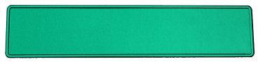 Glitter groen kentekenplaat