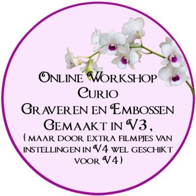 Online workshop Curio graveren en embossen