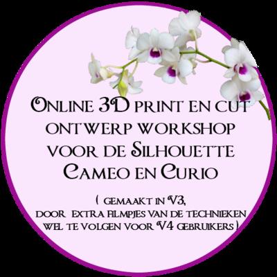 Online workshop 3D print en cut ontwerpen maken.