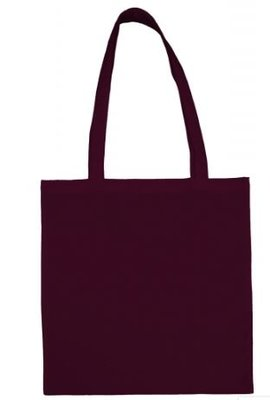 Cotton bag claret