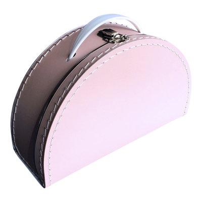 28cm koffertje half rond baby roze