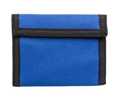 Polyester portemonnee blauw