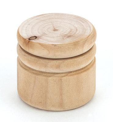 Tandendoosje hout rond