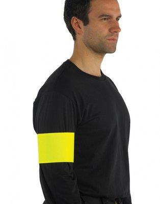 Fluor sport print armband yellow mt. L/XL