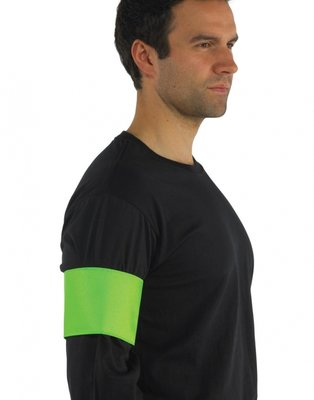 Fluor sport print armband lime mt. S/M