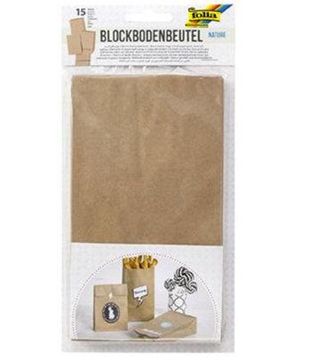 Block bottom bag kraft