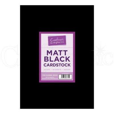 A4 Matt Black Cardstock