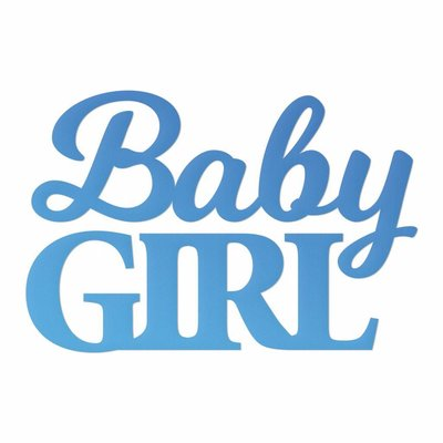 CC Baby Girl Sentiment Mini Die