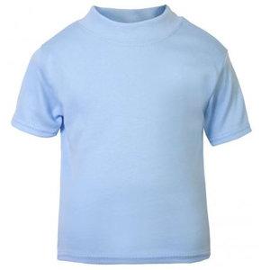 Baby & Kinder T-Shirt Licht Blauw 0-3mnd
